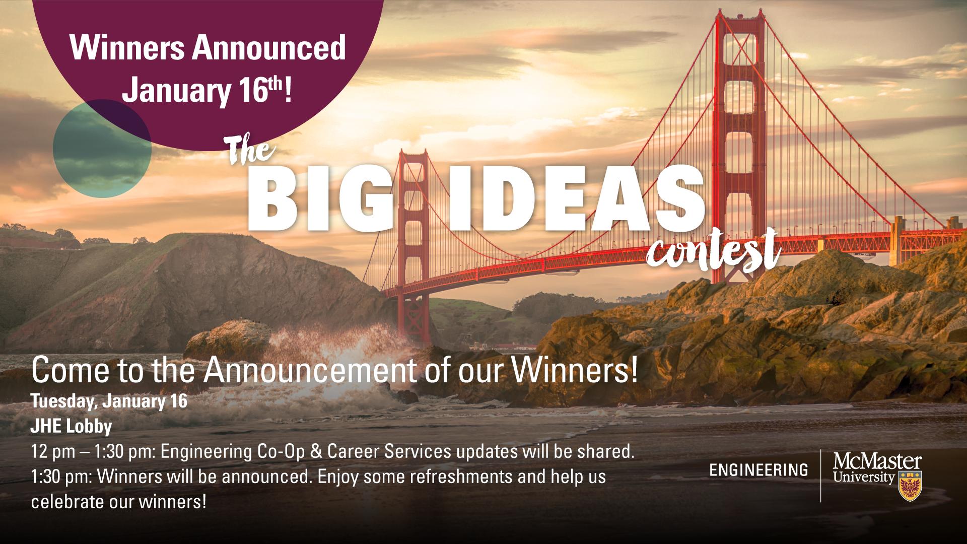 Big Ideas Contest Winners Announcement