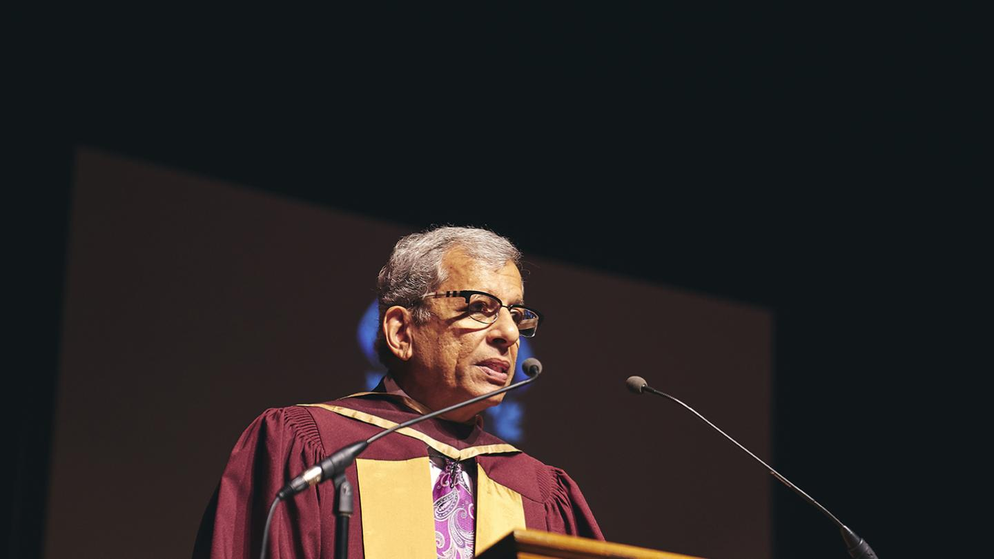 Read Honorary Degree recipient Waguih Ishak\'s speech