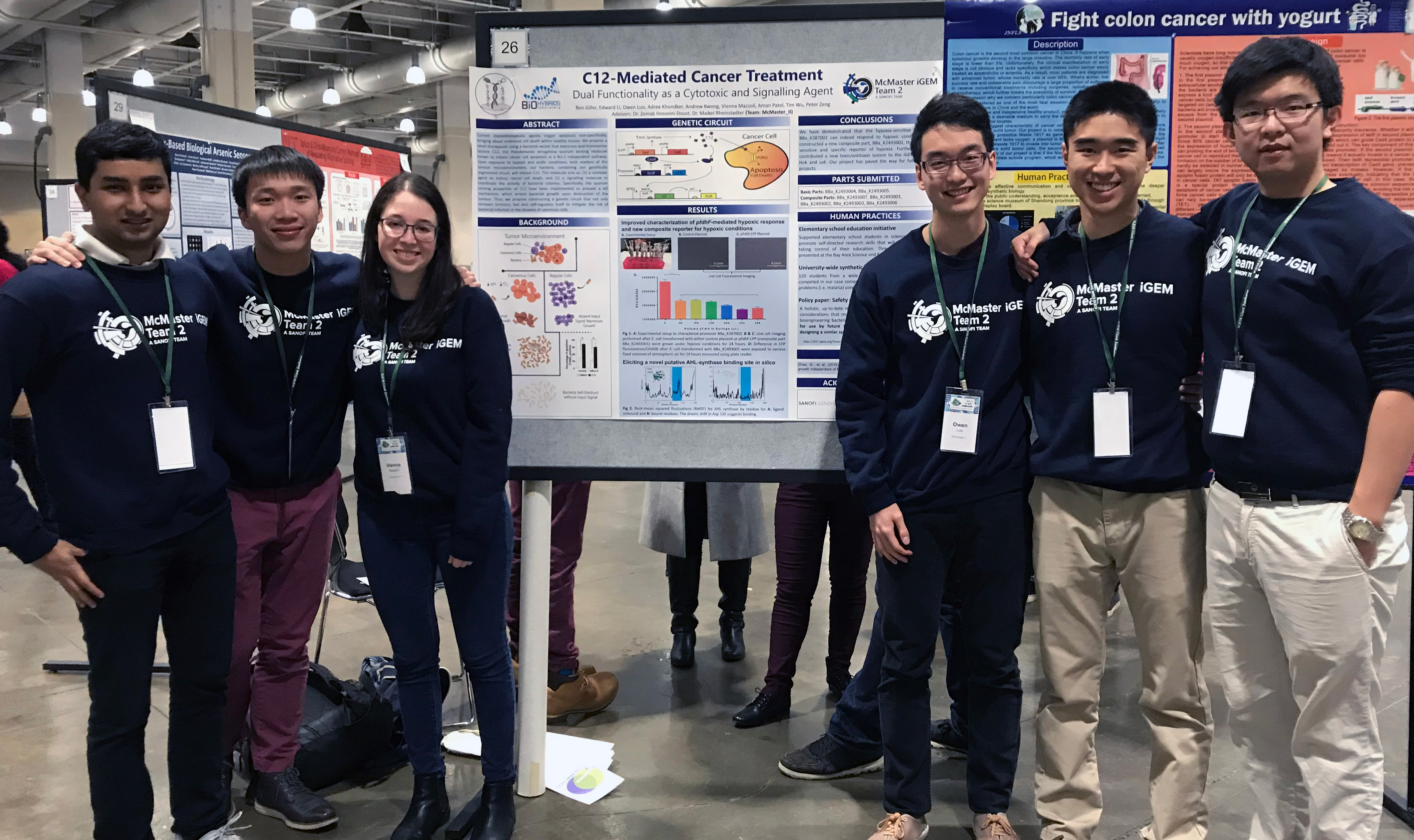 IIDR-Supervised McMaster Students Awarded Bronze Medal at International Synthetic Biology Competition