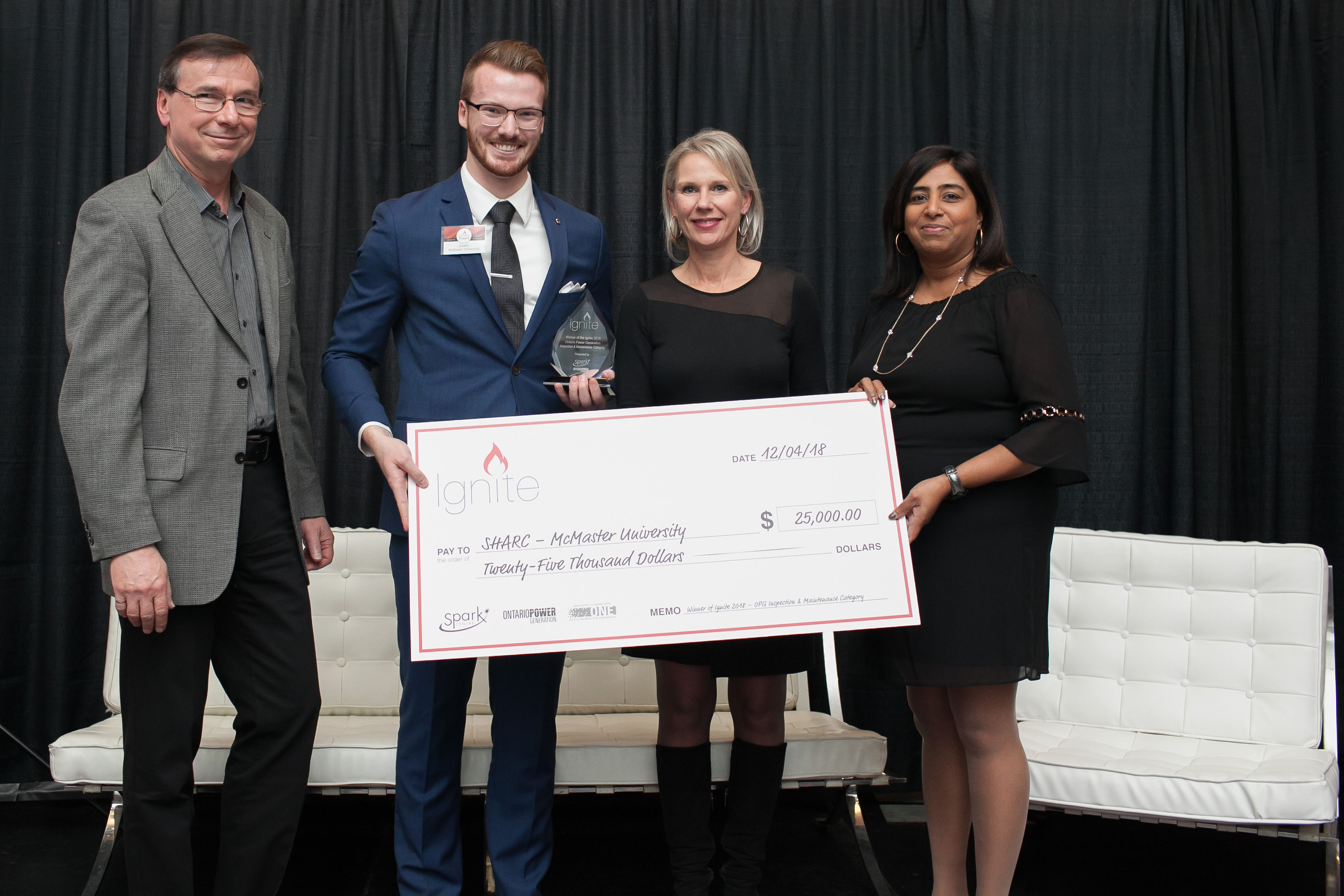 Engineering Physics grad wins top prize at OPG Ignite Competition