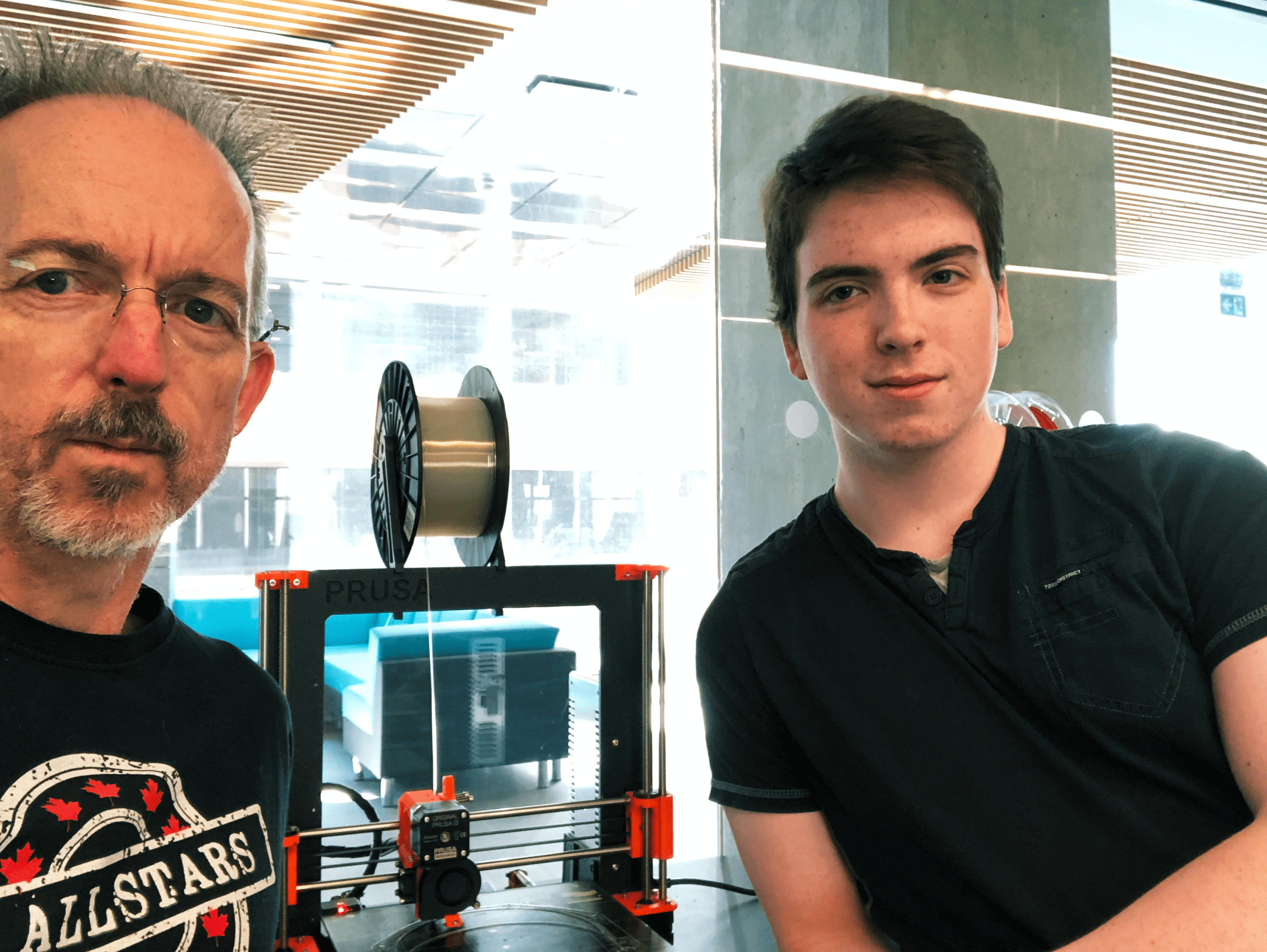McMaster Engineering professor and his son creating face shields for healthcare workers