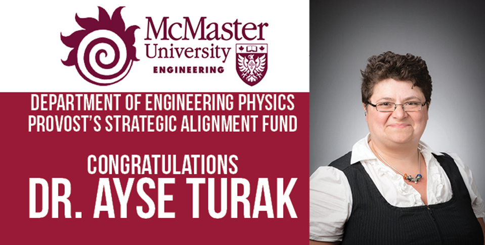 Ayse Turak, Provost's Strategic Alignment Fund