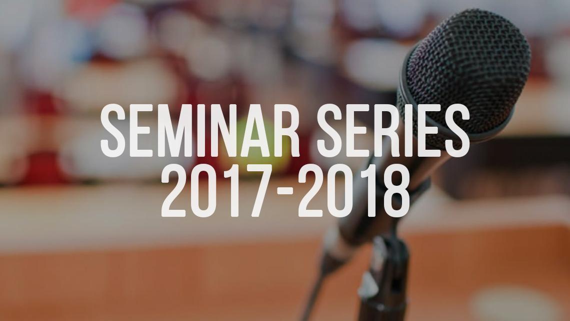 Seminar Series 2017-2018
