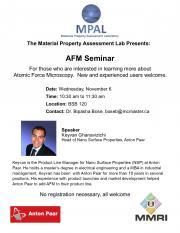 Atomic Force Microscopy Seminar