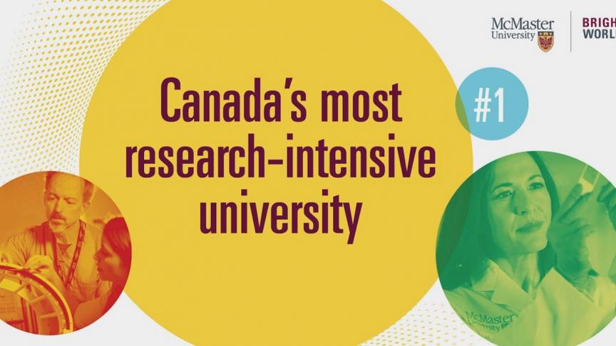 McMaster named Canada's most research-intensive university