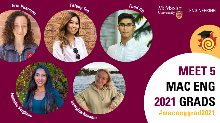 Meet five 2021 Mac Eng graduates