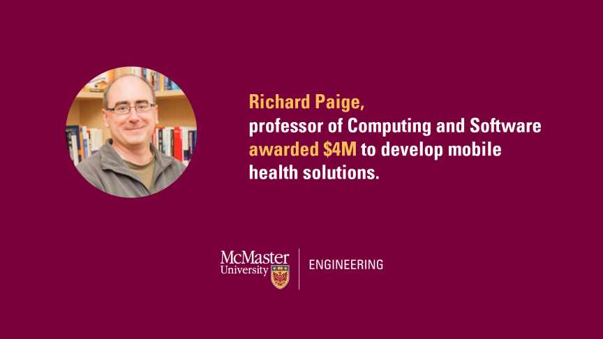 Computing and Software professor awarded $4 million to develop mobile health solutions and expertise in Ontario