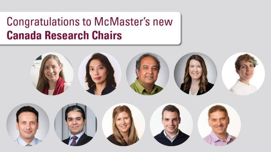 McMaster announces ten new Canada Research Chairs
