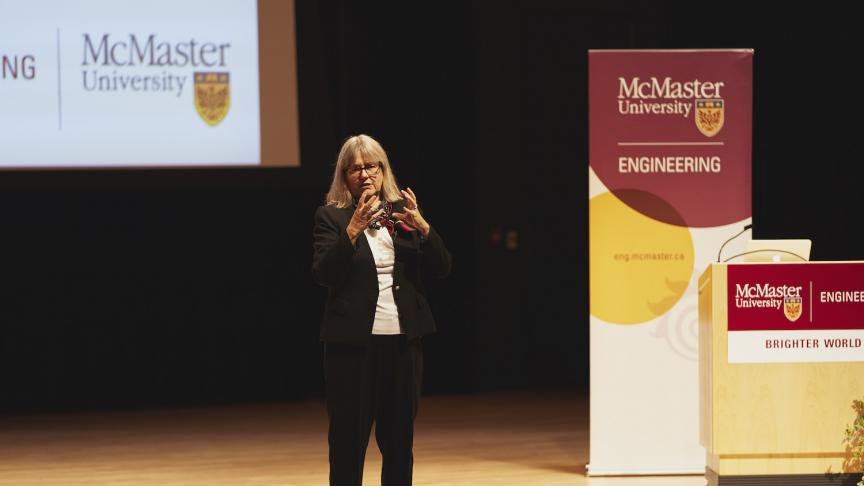 Nobel laureate Donna Strickland delivers inspiring 34th J.W. Hodgins Memorial Lecture