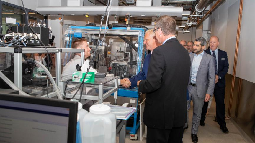 Ontario premier Doug Ford visits McMaster Innovation Park
