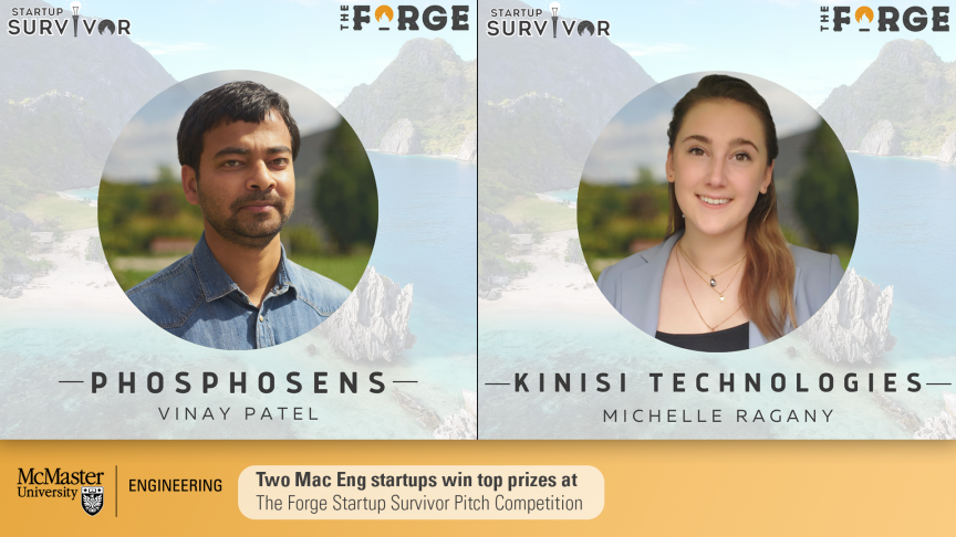 Two Mac Eng startups win top prizes at The Forge Startup Survivor Pitch Competition