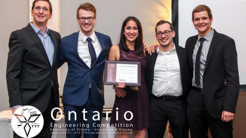 Eng Phys students win at the Ontario Engineering Competition!