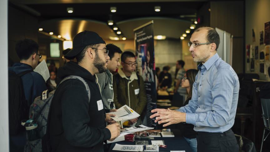 Students flock to graduate studies fair at McMaster