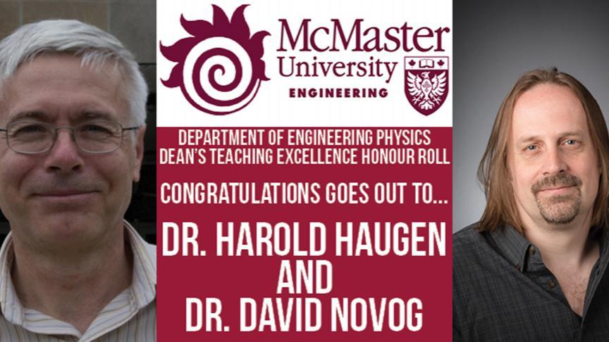Dean's Teaching Excellence Honour Roll, Winter 2017