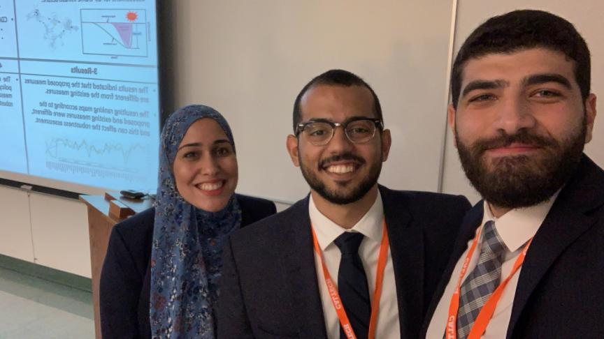 Civil Engineering grad students sweep prestigious international competition