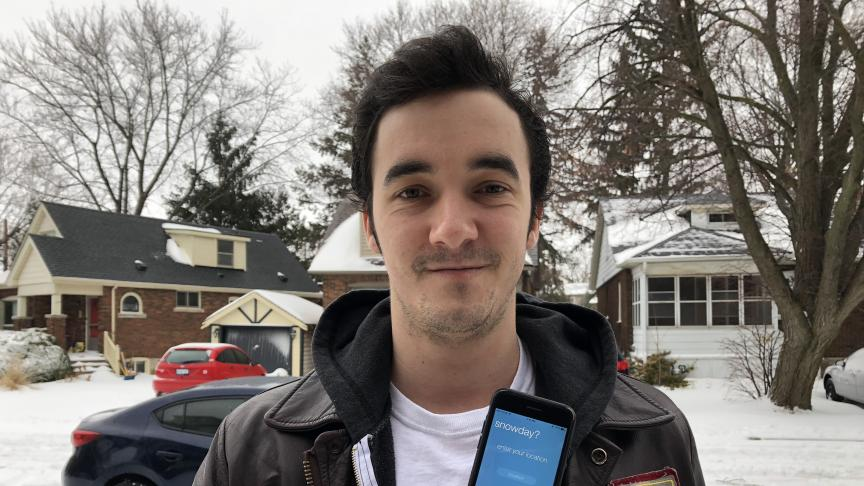 Student creates app that predicts snow days