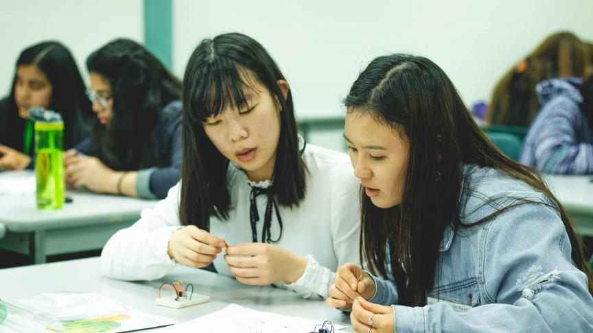 Female high school students explored interests in STEM at Eng Overnight