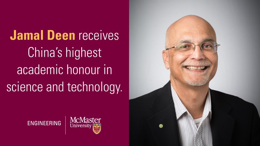 Jamal Deen receives China's highest academic honour in science and technology