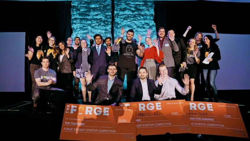Faculty of Engineering students take top prizes at 2018 Forge Student Startup Competition