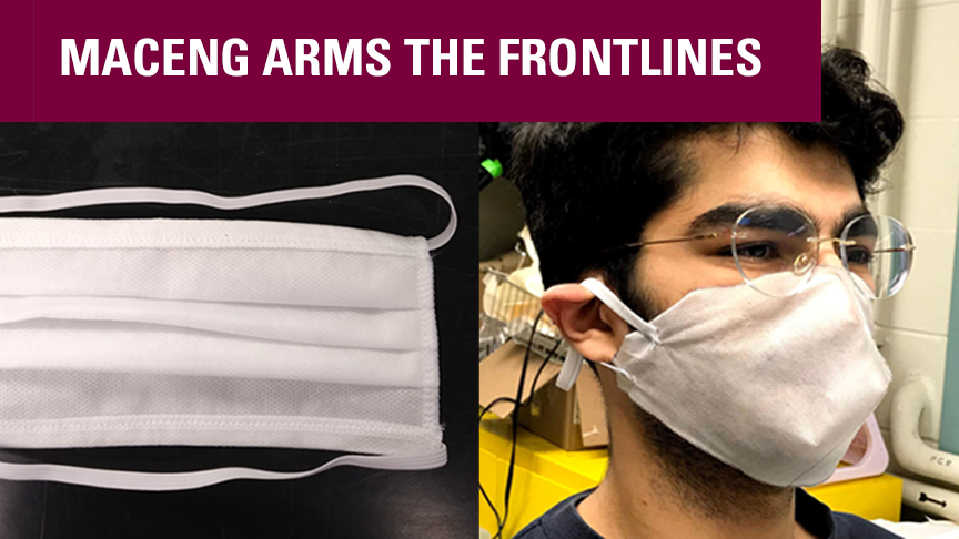MacEng arms the frontlines with masks: Faculty, students create protective equipment for healthcare workers