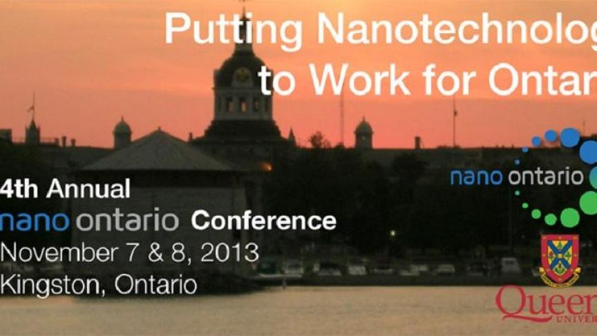 Eng Phys Represents at the 2013 Nano Ontario Conference