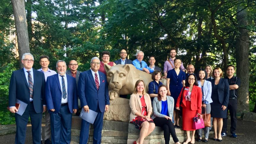McMaster visit to Penn State highlights cross-border collaboration