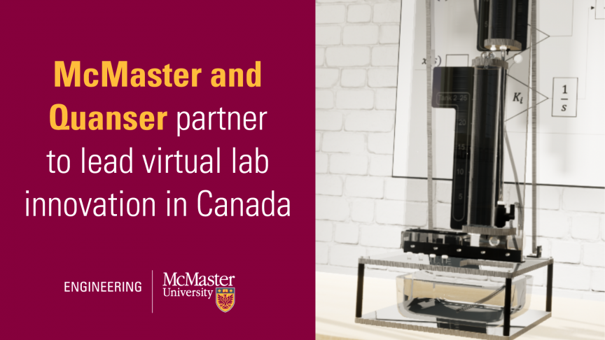 McMaster and Quanser partner to lead virtual lab innovation in Canadian engineering education