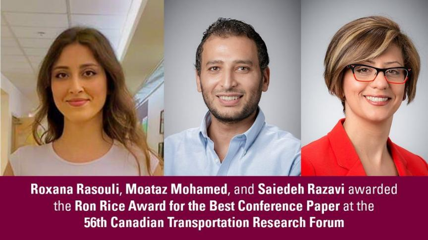 McMaster Civil Engineering Graduate Student and Professors receive Best Conference Paper Award at the Canadian Transportation Research Forum