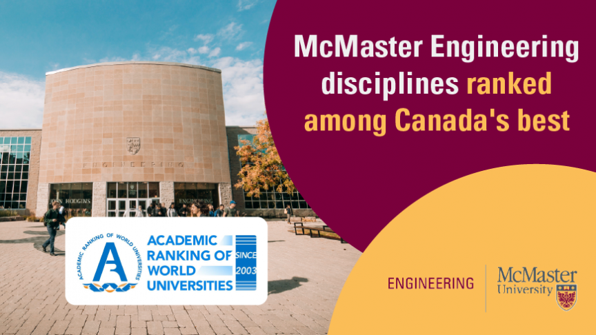 McMaster Engineering disciplines ranked among Canada's best