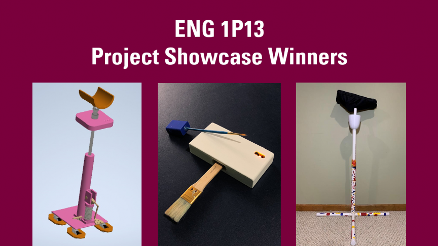 First-year engineering students and budding designers showcase projects at year-end event