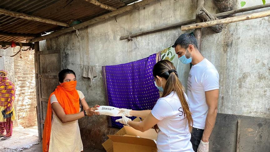 Alum's company donates 100,000 sanitary pads to migrant workers impacted by COVID-19