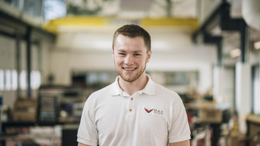 Riley Dunn, Mechanical Engineering & Management IV and Chassis Lead for MAC Formula Electric