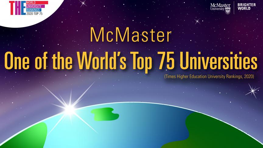 McMaster one of the world's Top 75 universities