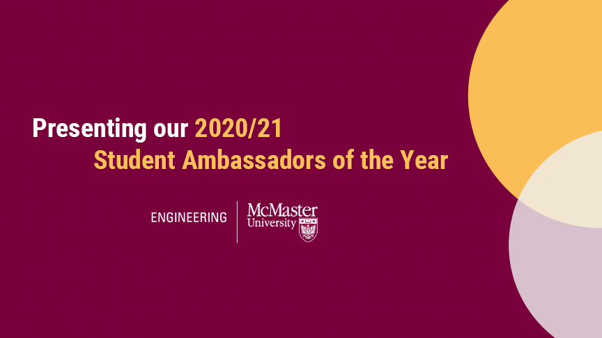 Meet the 2020/21 Student Ambassadors of the Year