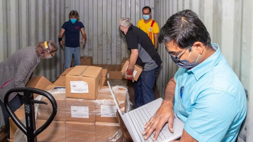 McMaster community works together to send $750,000 in PPE and gear to Uganda