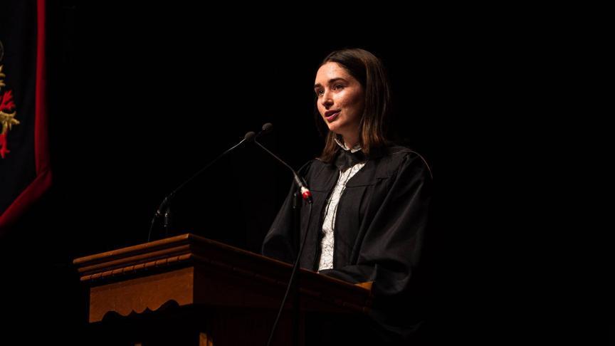 Hannah McPhee's valedictory speech