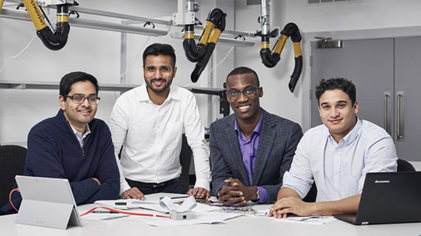 Searching for a silent threat: McMaster Engineering grads receive James Dyson Award for cancer detection device