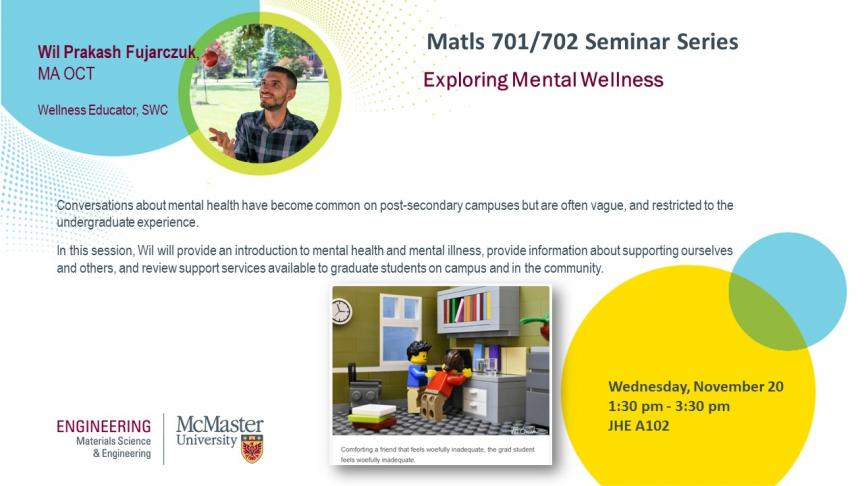 Matls 701/702 Guest Speaker: Wil Prakash Fujarczuk, Wellness Educator
