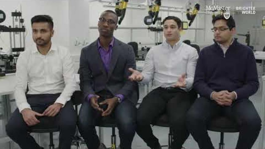 Embedded thumbnail for Searching for a silent threat: McMaster Engineering grads receive James Dyson Award for cancer detection device