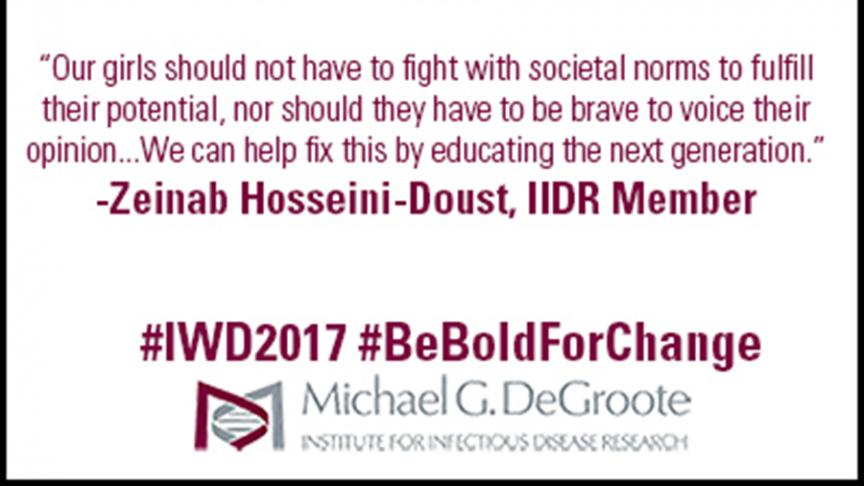 International Women's Day Q&A Spotlight on Zeinab Hosseini-Doust