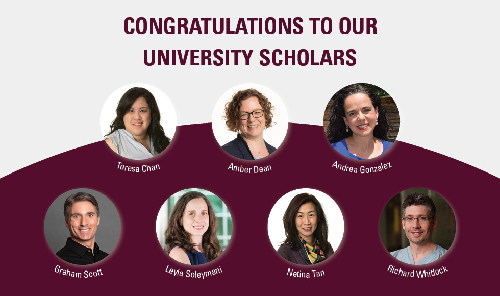 Seven McMaster researchers recognized as University Scholars