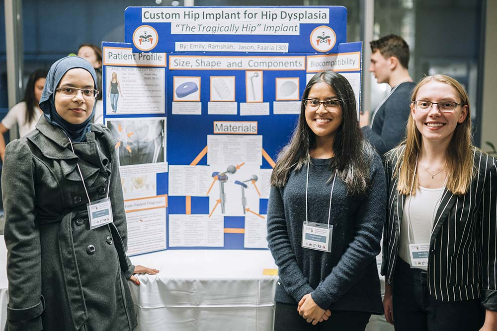 Where engineering meets healthcare: First year iBioMed students design innovative hip implants