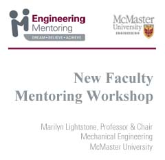 New Faculty Mentoring Workshop