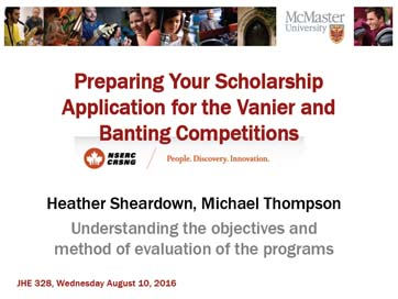 Preparing Your Scholarship Application for Vanier Banting Competitions