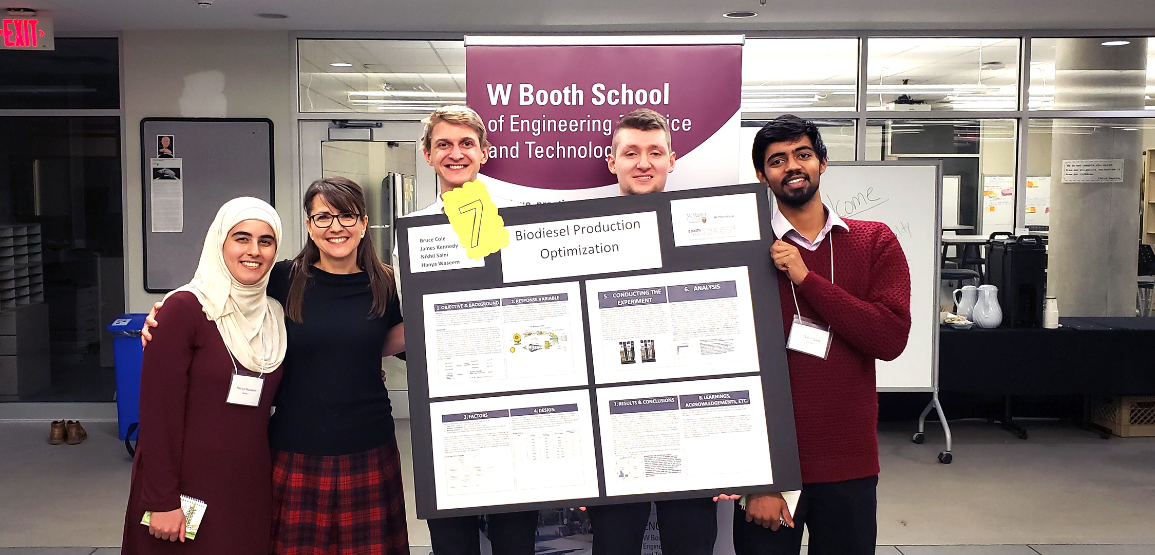 B.Tech. students present experiments to American Society for Quality Hamilton Chapter